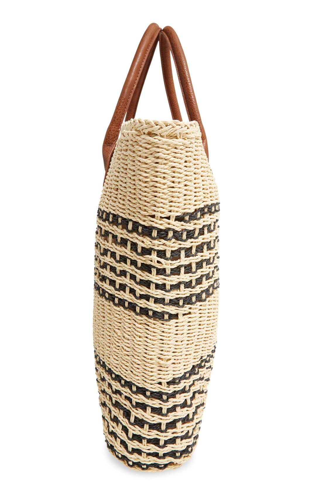 Alternate Image 5  - San Diego Hat Stripe Straw Tote