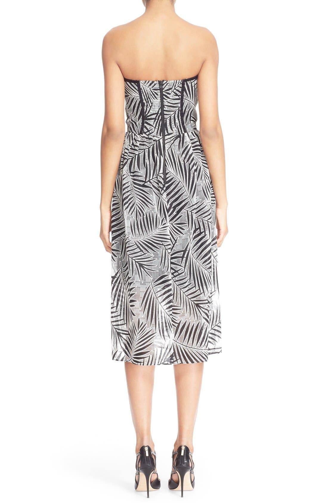Alternate Image 2  - Parker 'Azalea' Palm Lace Midi Length Dress