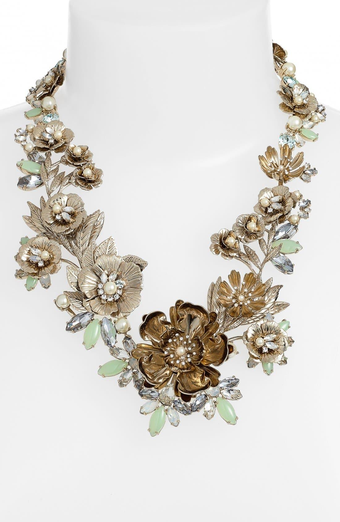 Alternate Image 2  - Marchesa 'Drama' Crystal Floral Collar Neckace