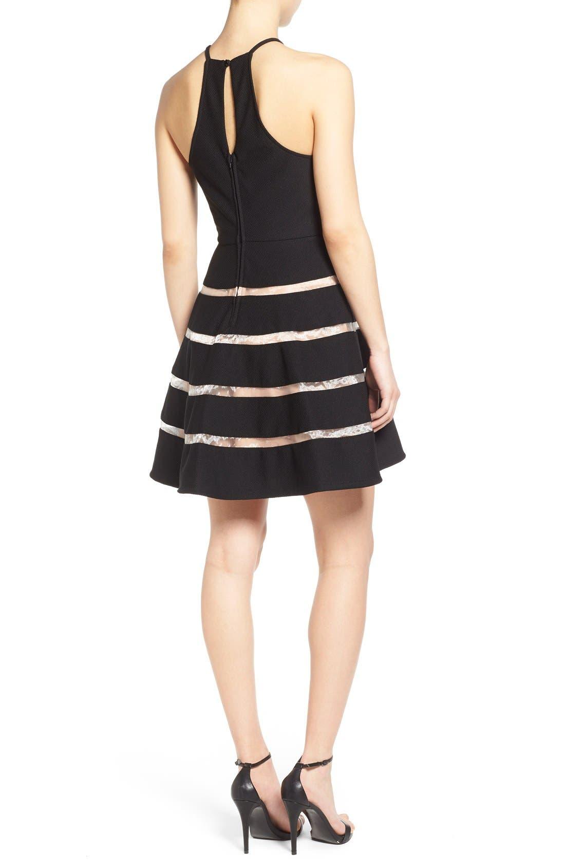Alternate Image 2  - Way-In Inset Stripe Skater Dress