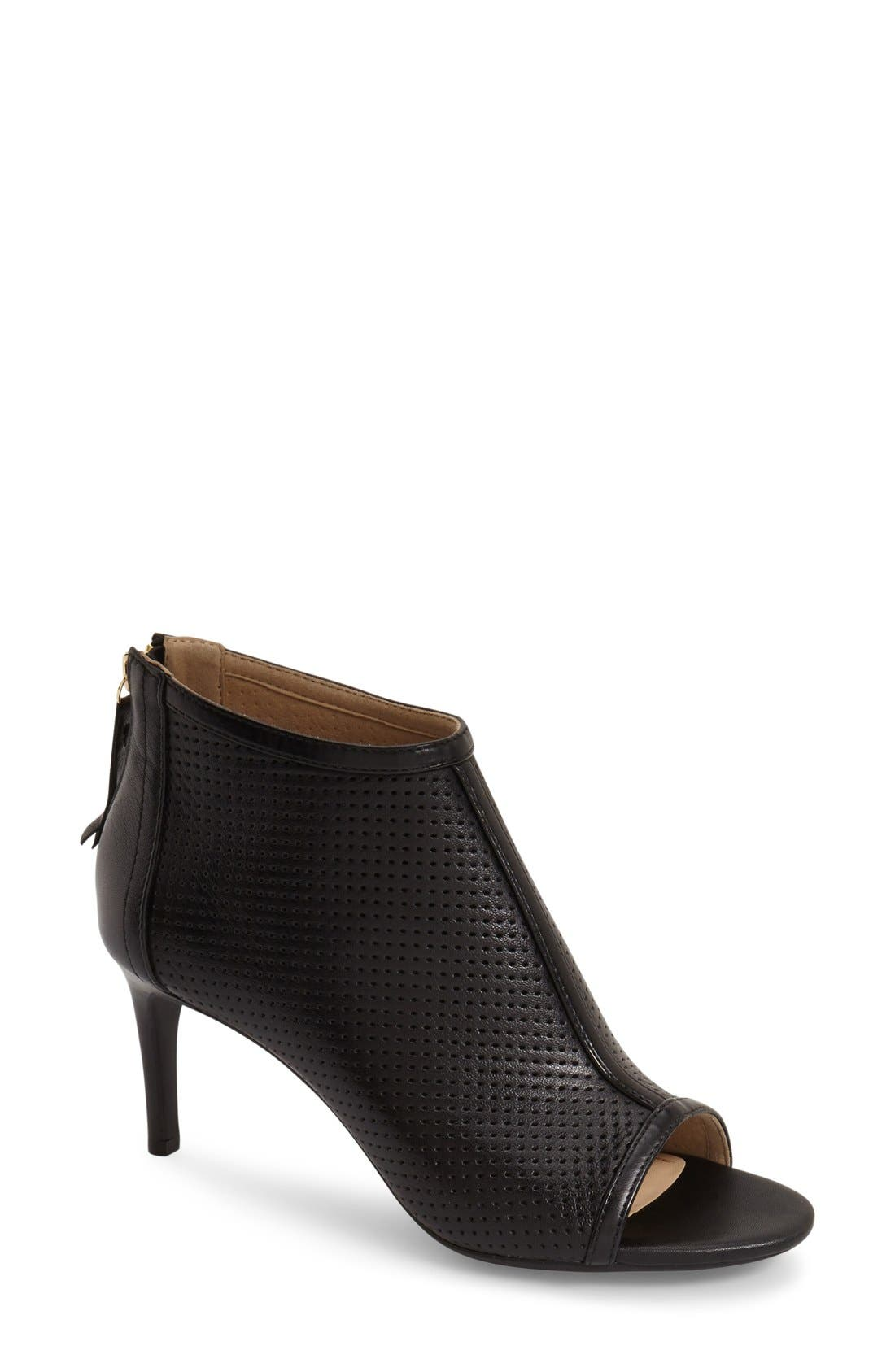 Alternate Image 1 Selected - Geox 'Audie' Peep Toe Bootie (Women)