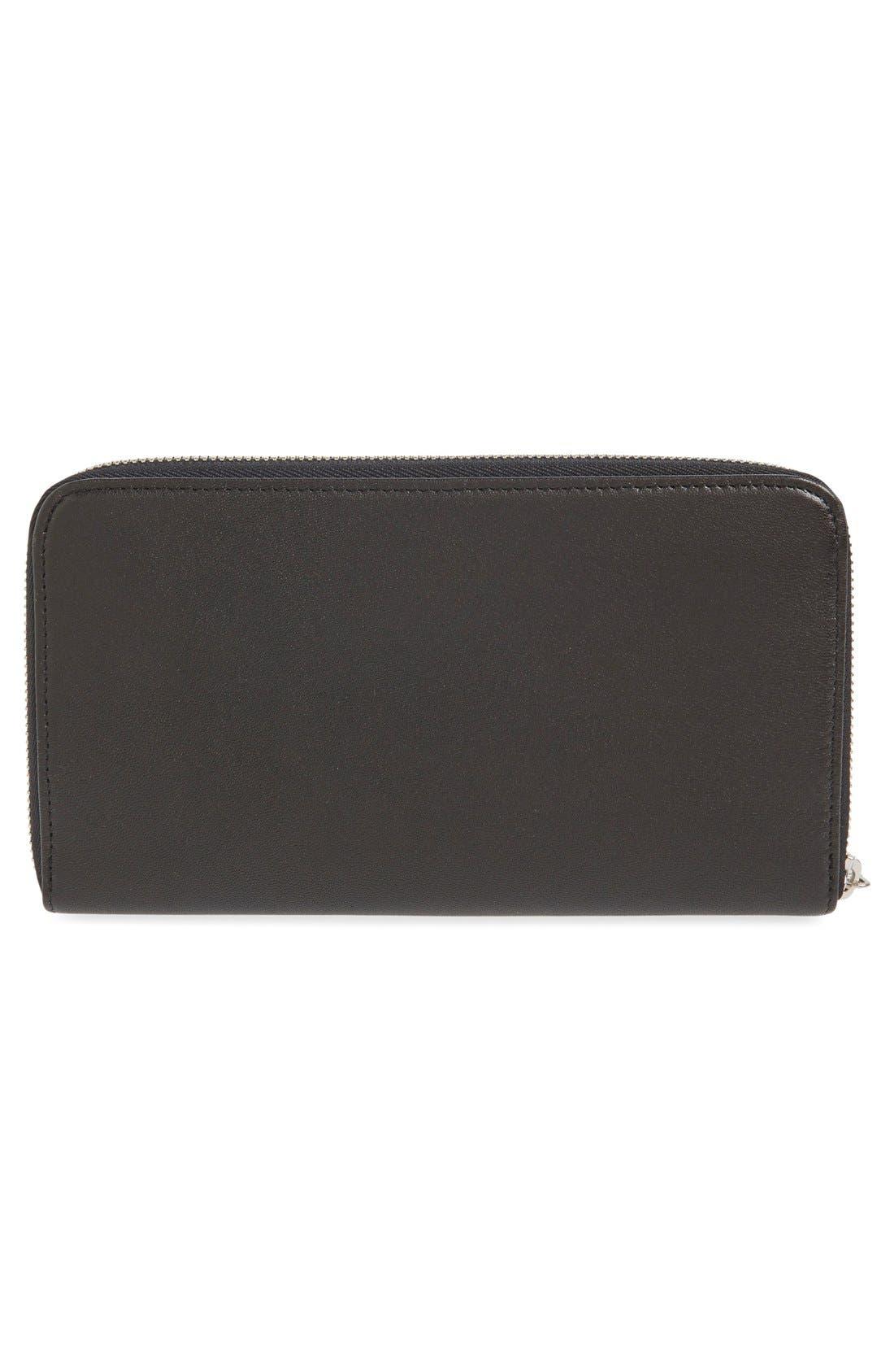 Alternate Image 4  - Longchamp 'Le Pliage' Leather Zip Around Wallet