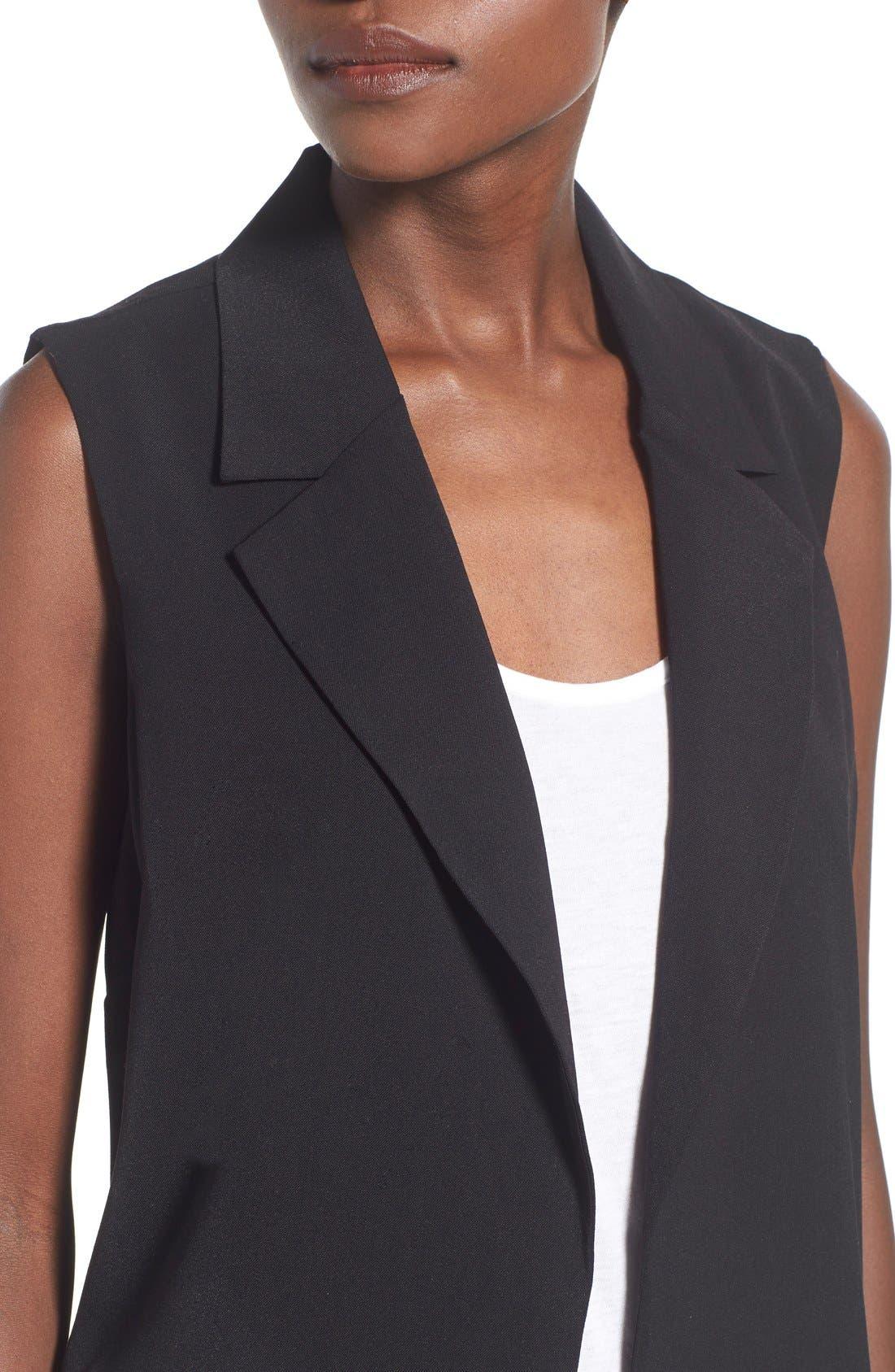 Alternate Image 4  - Leith Sleeveless Open Front Jacket