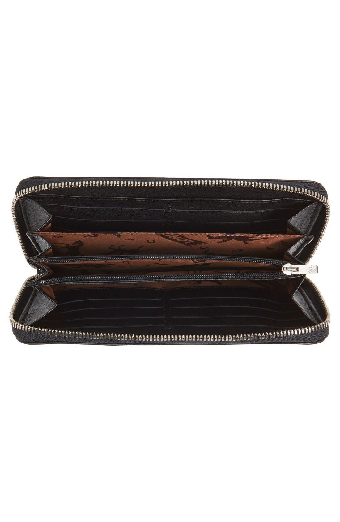 Alternate Image 2  - Longchamp 'Le Pliage' Leather Zip Around Wallet