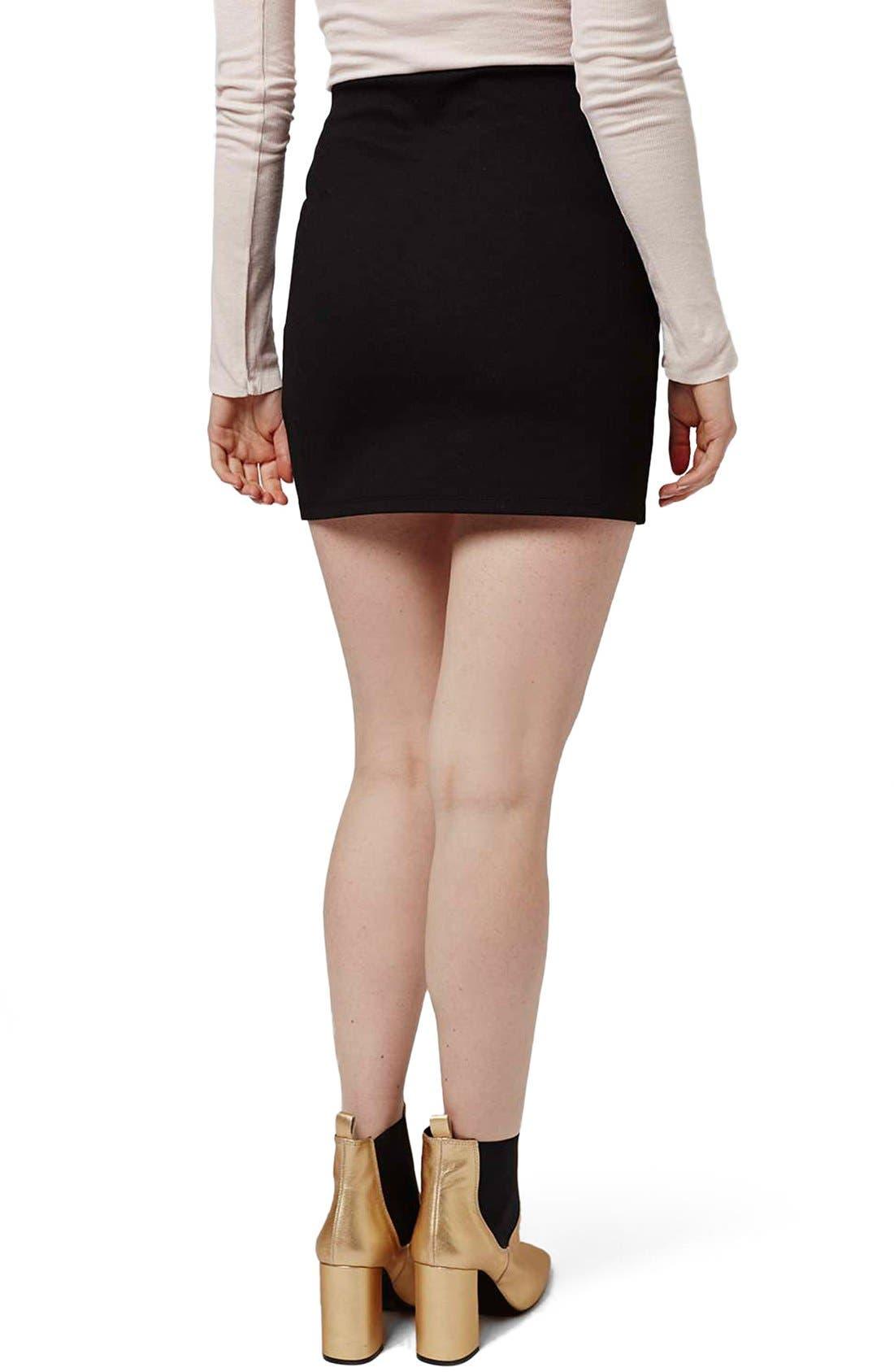 Alternate Image 3  - Topshop Curved Faux Wrap Miniskirt (Petite)