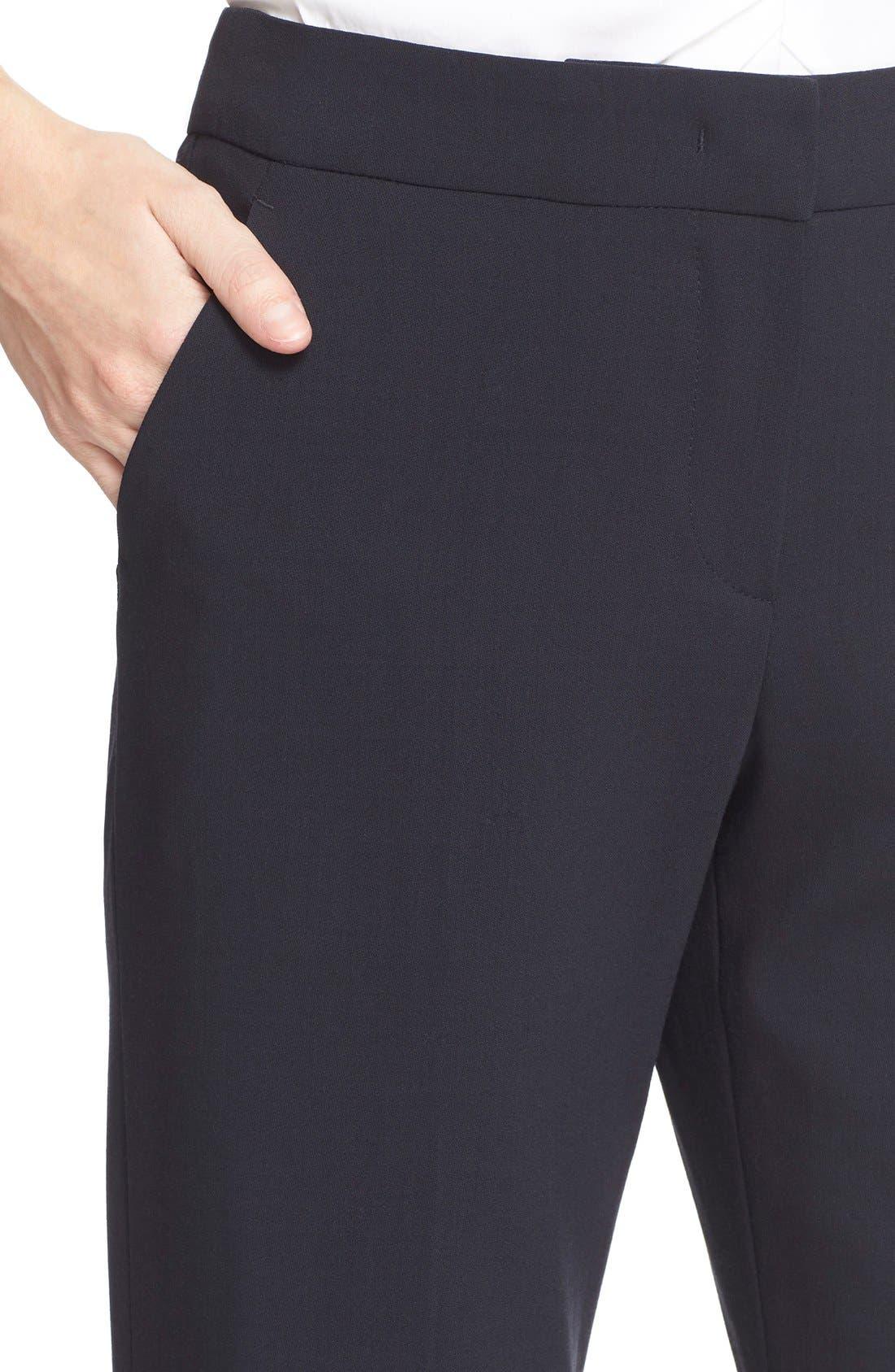Alternate Image 5  - Armani Collezioni Straight Leg Featherweight Wool Pants