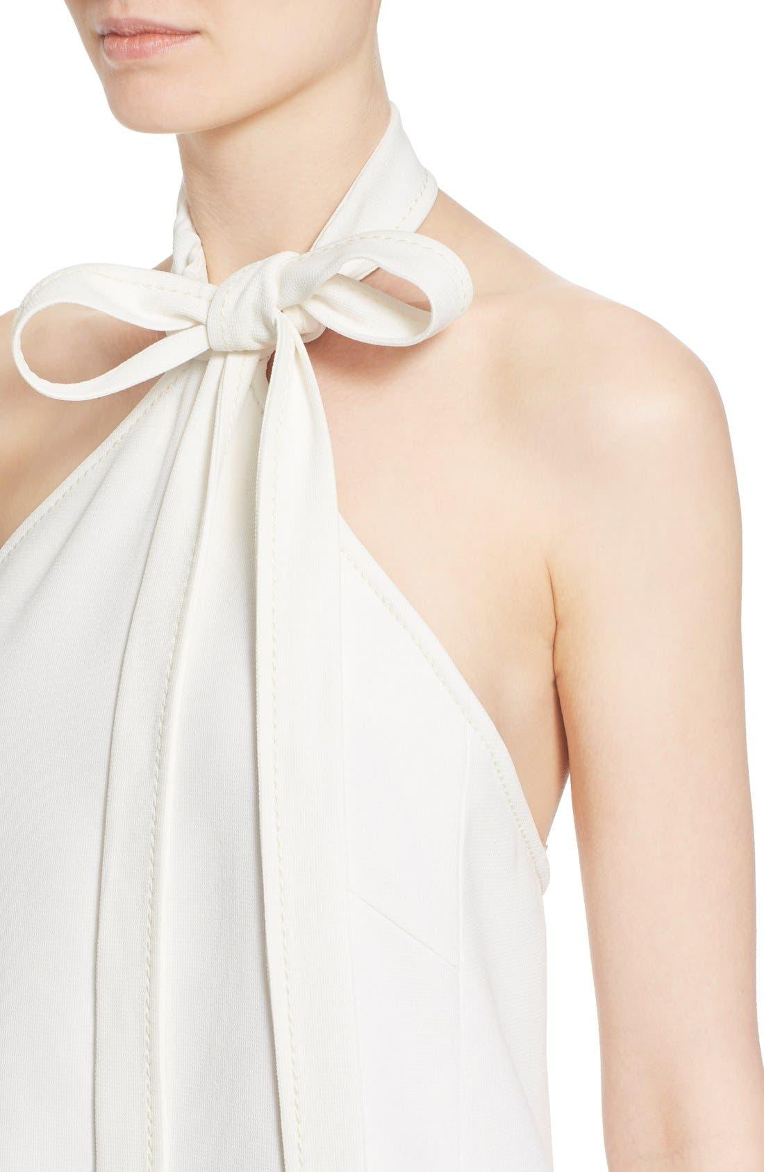 Alternate Image 7  - Chloé Textured Crêpe Tie Neck Halter Dress