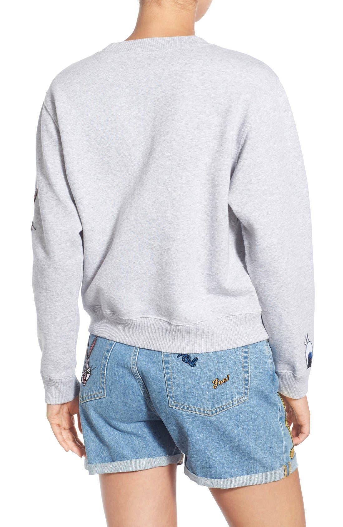 Alternate Image 2  - Paul & Joe Sister 'So Funny' Crewneck Cotton Sweatshirt