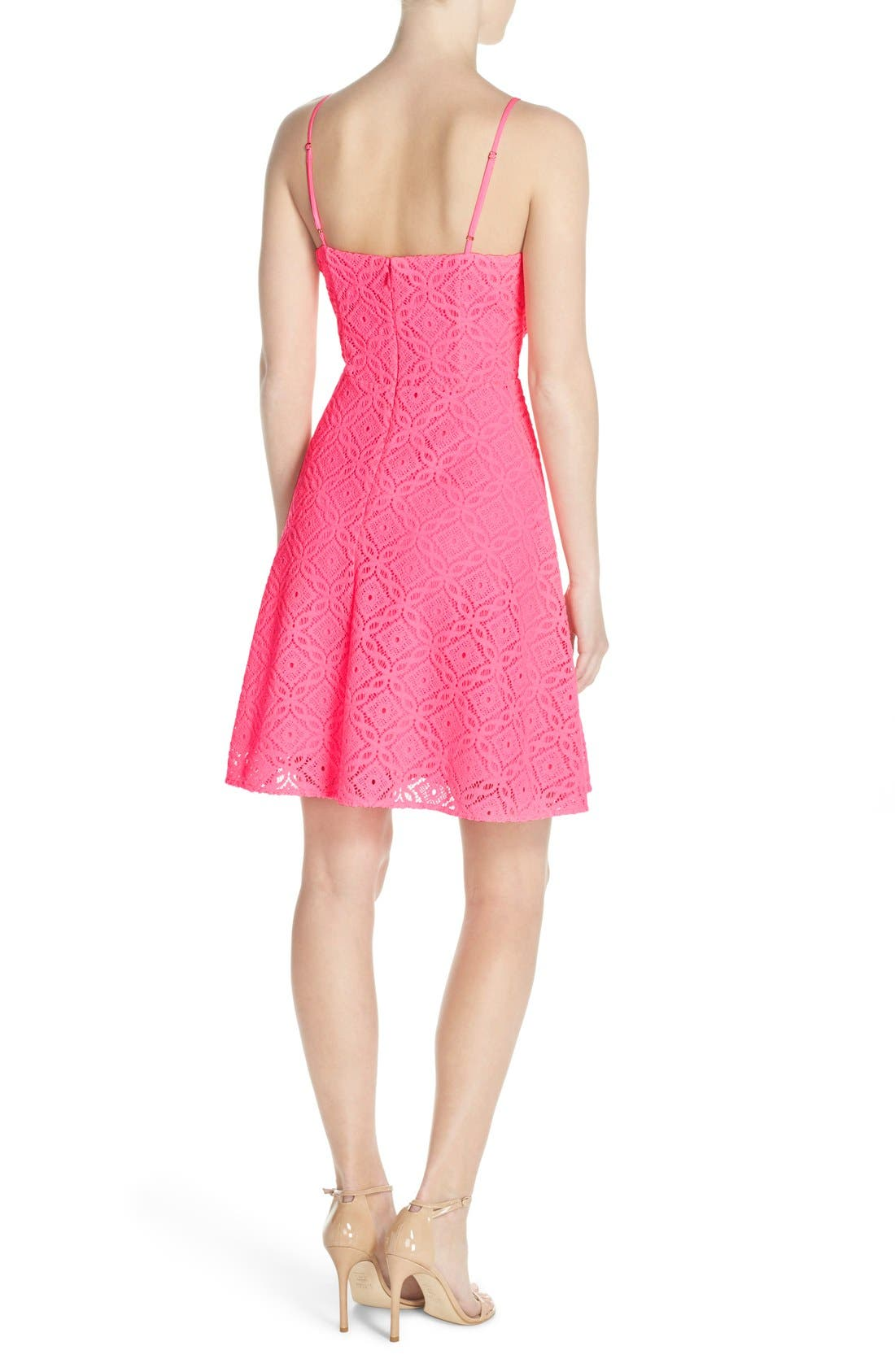 Alternate Image 2  - Lilly Pulitzer® 'Jennilee' Lace Fit & Flare Dress