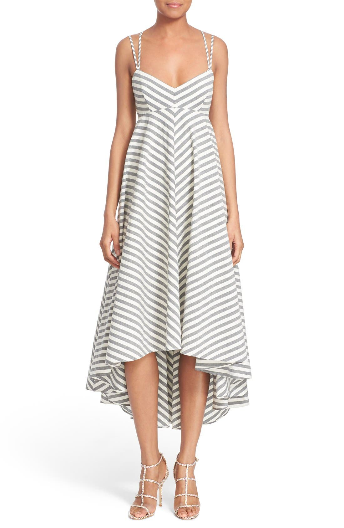 Main Image - Milly Strappy Stripe Maxi Dress