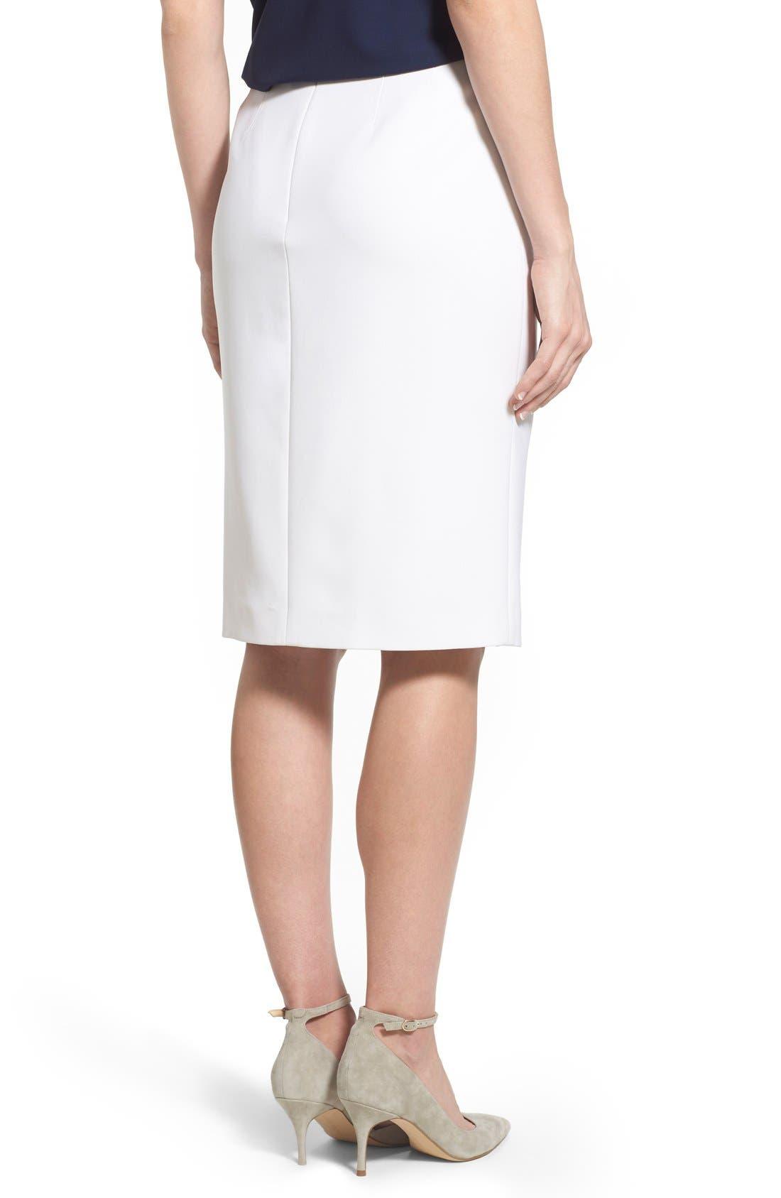 Alternate Image 2  - Ellen Tracy Asymmetrical Front Slit Pencil Skirt