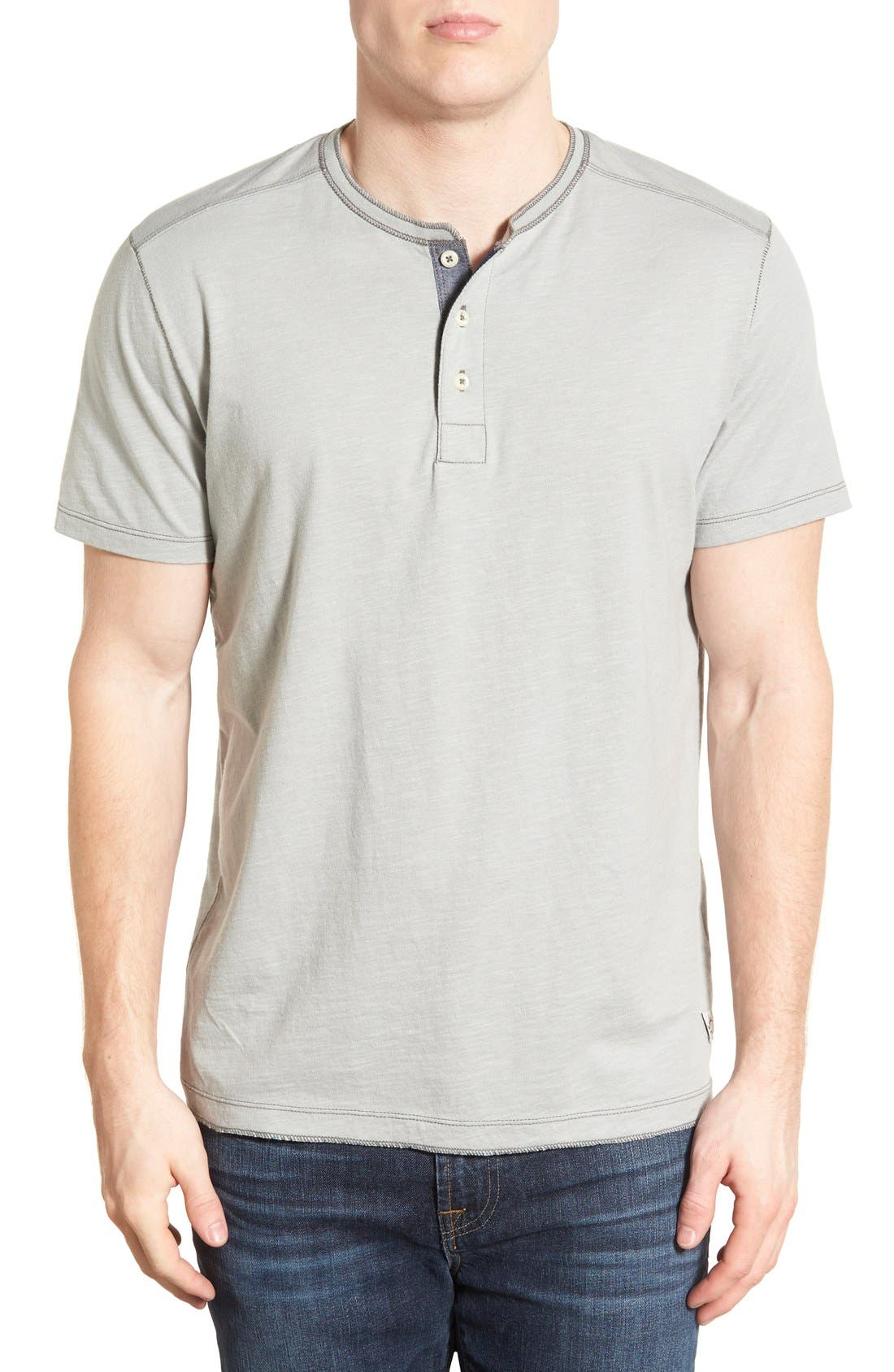 JEREMIAH 'Abel' Short Sleeve Slub Cotton Henley