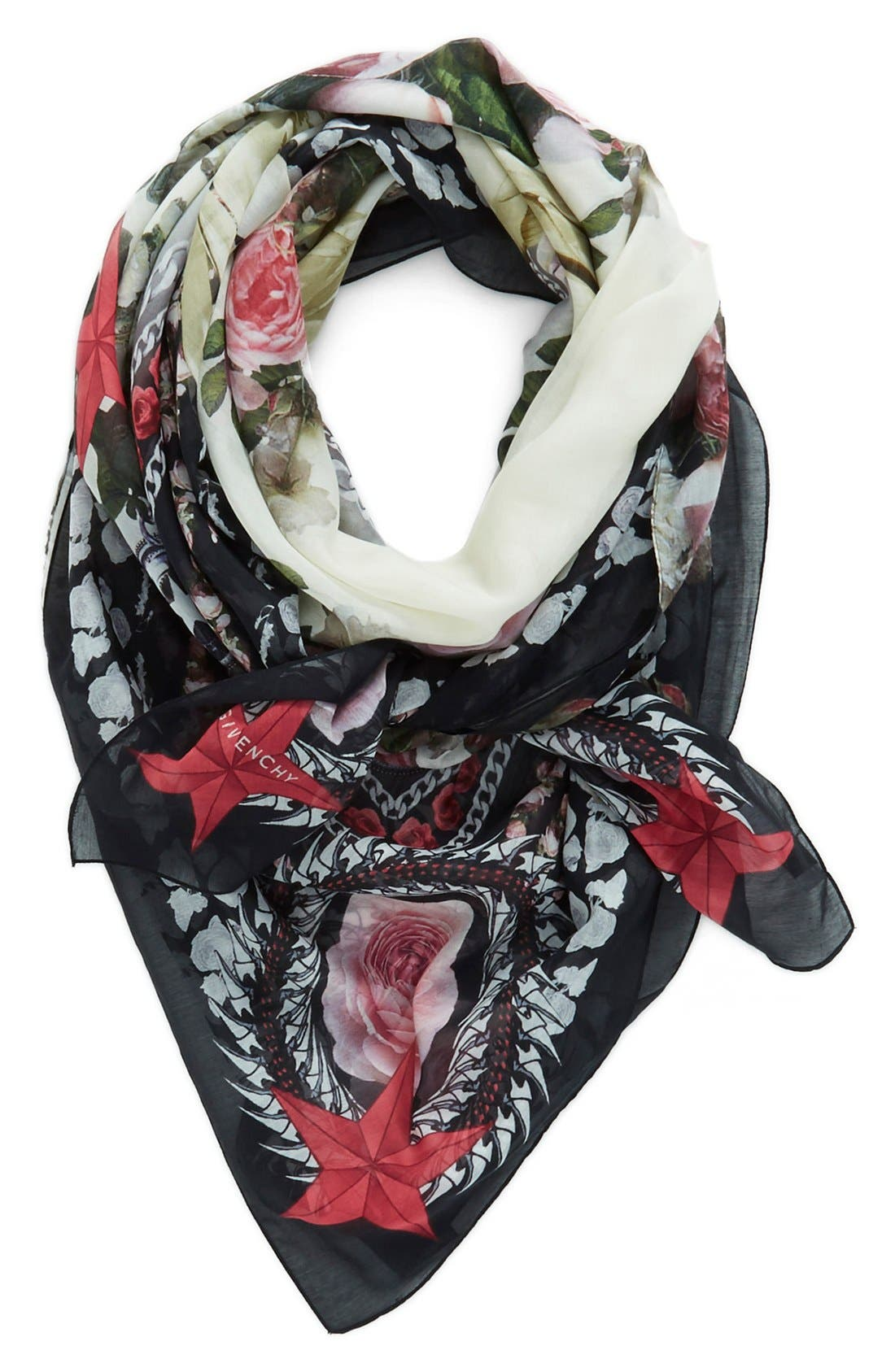 Alternate Image 1 Selected - Givenchy 'Paradise Flower' Print Cotton & Silk Scarf