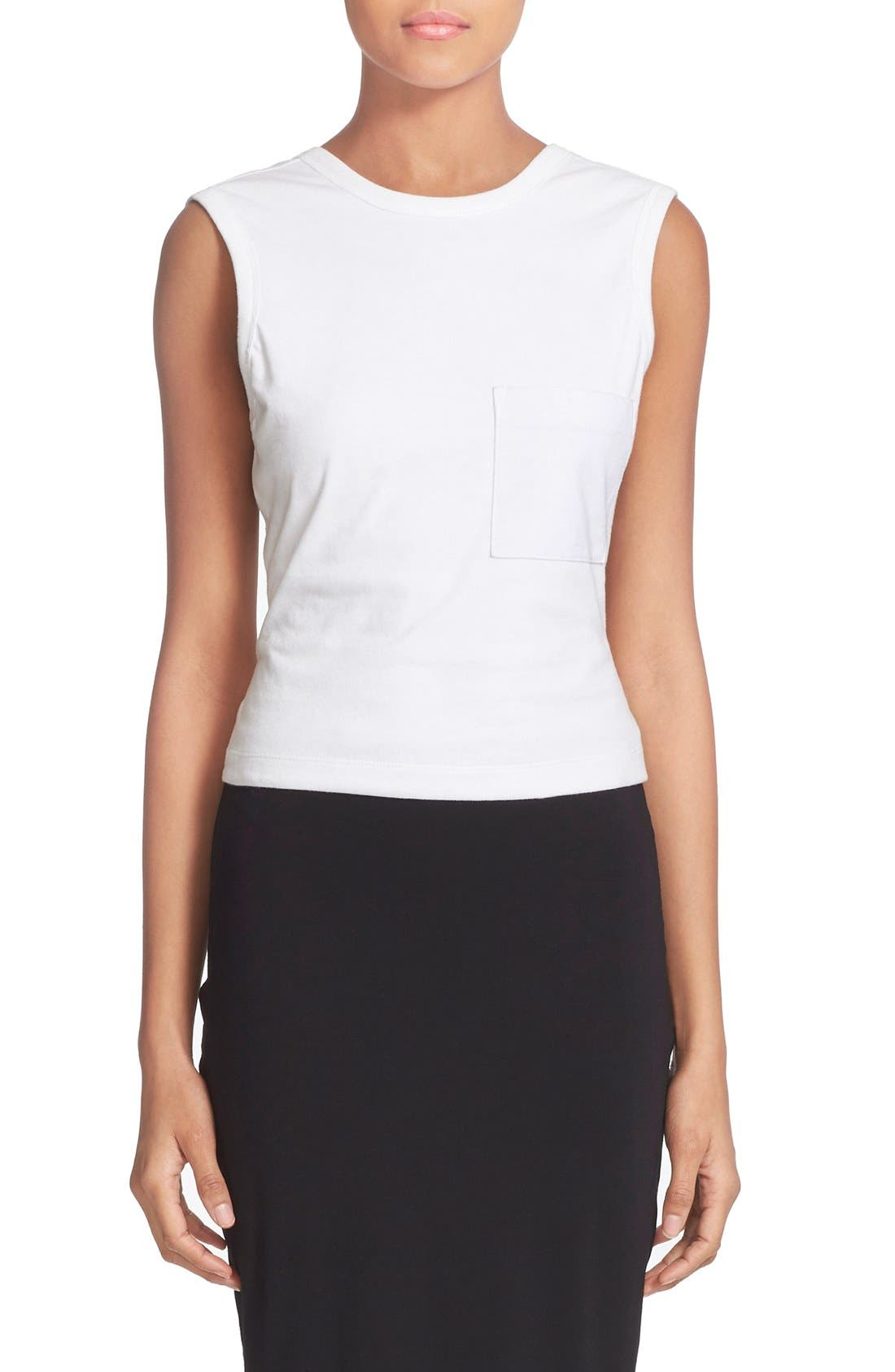 T by Alexander Wang Open Back Twist Jersey Tank