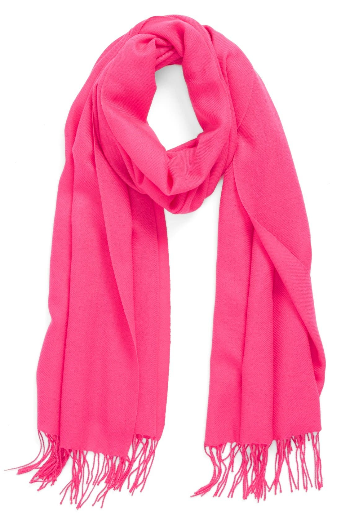 Alternate Image 1 Selected - Nordstrom Tissue Weight Wool &Cashmere Scarf