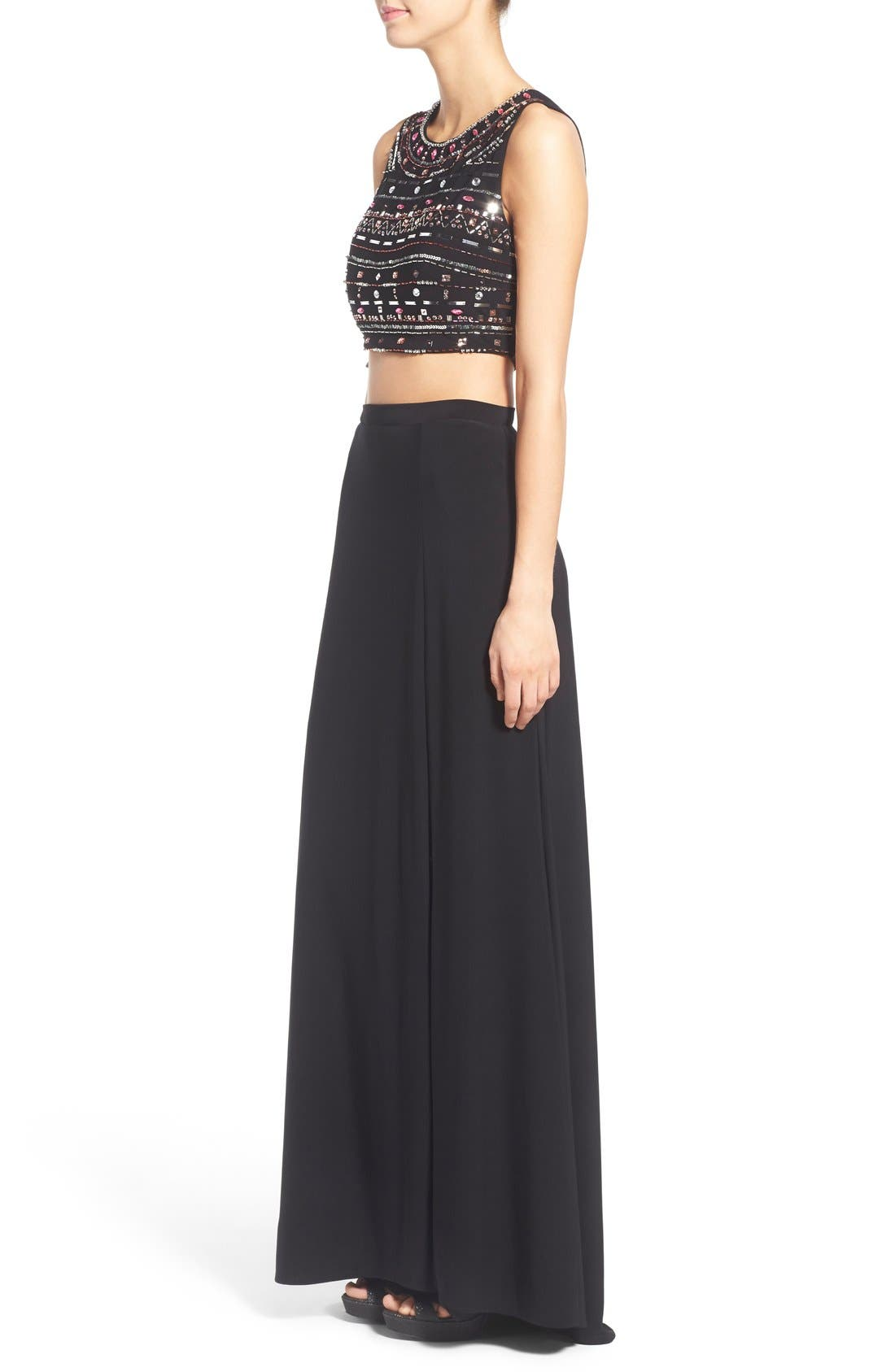 Alternate Image 3  - Morgan & Co. Embellished Two-Piece Gown
