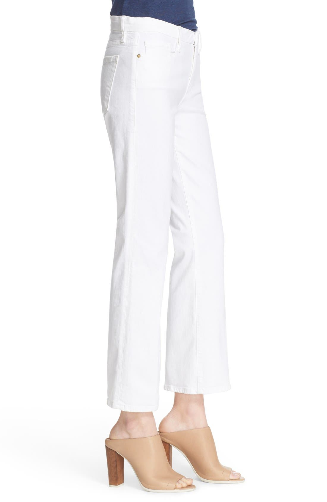 Alternate Image 3  - FRAME 'Le Crop Mini Boot' Crop Jeans (Blanc)