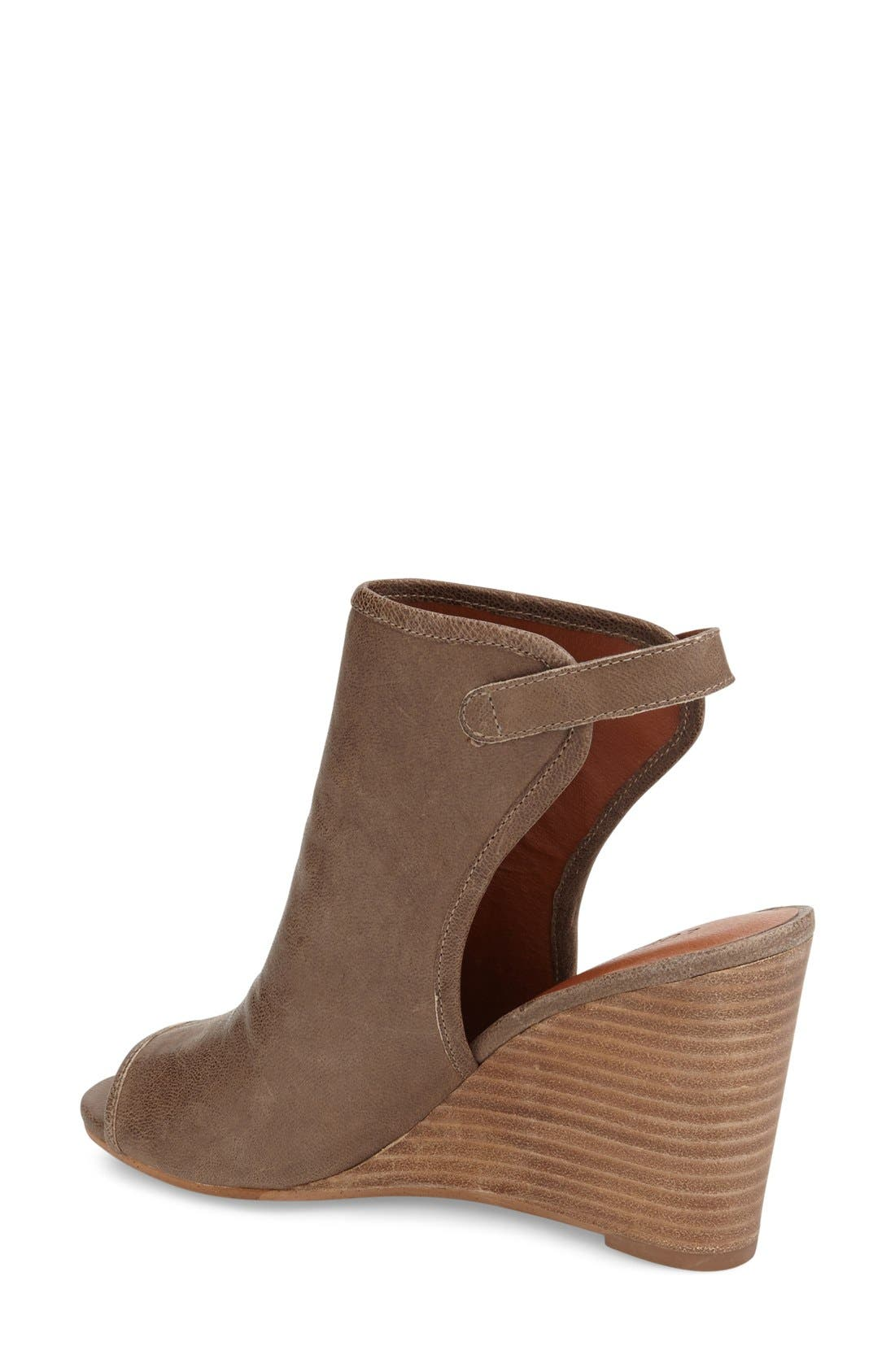 Alternate Image 2  - Lucky Brand 'Risza' Open Toe Wedge Bootie (Women)