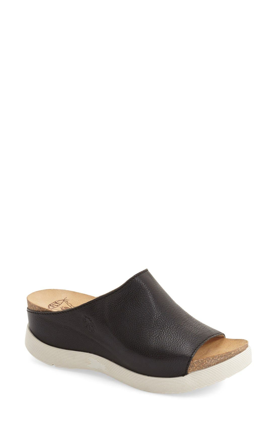 Fly London 'Wigg' Platform Wedge Slide Sandal (Women)