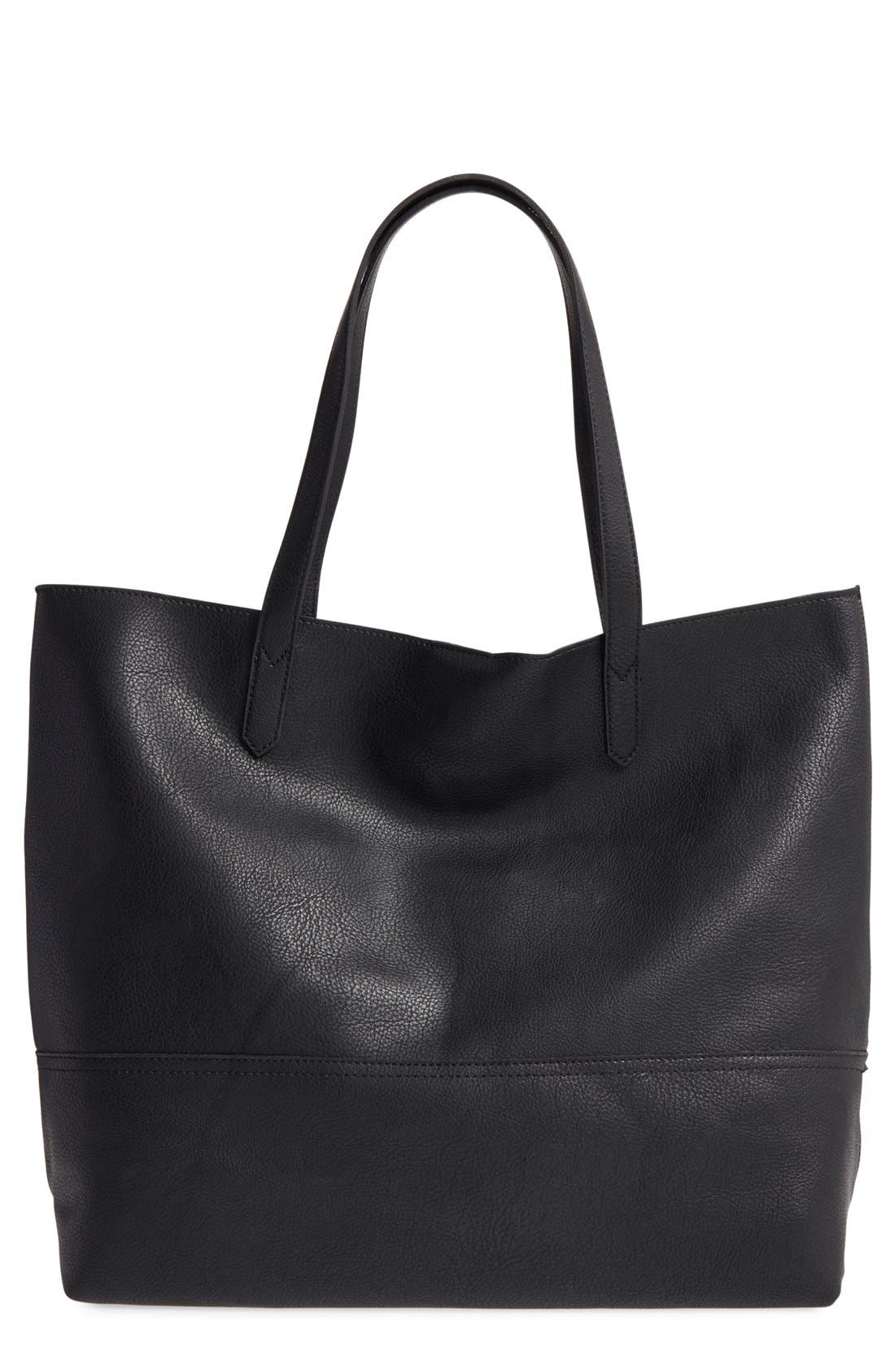 Sole Society Dawson Oversize Faux Leather Shopper