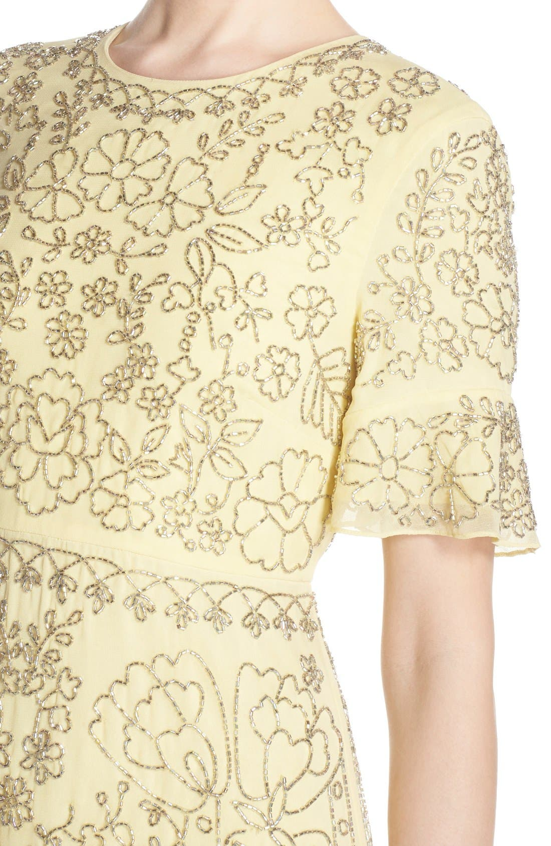 Alternate Image 6  - Needle & Thread Beaded Georgette Sheath Dress