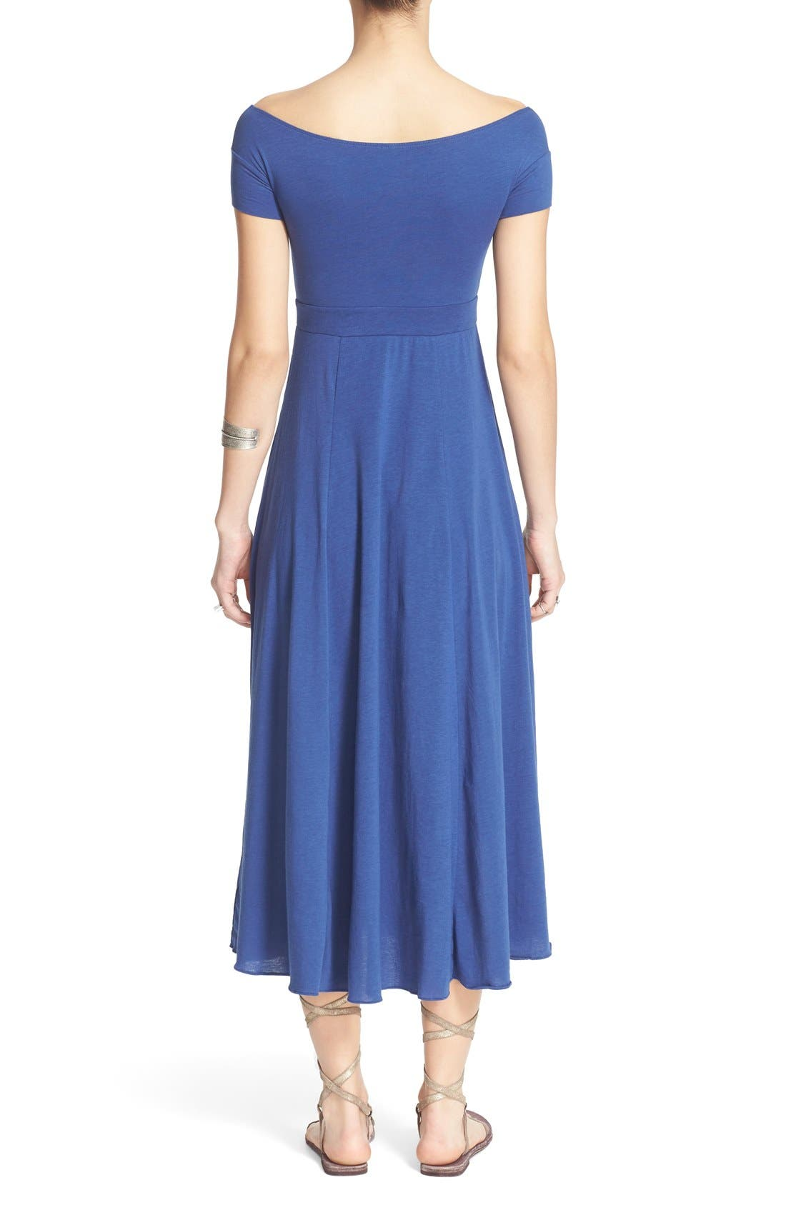 Alternate Image 2  - Free People 'Dance with Me' Off the Shoulder Fit & Flare Dress