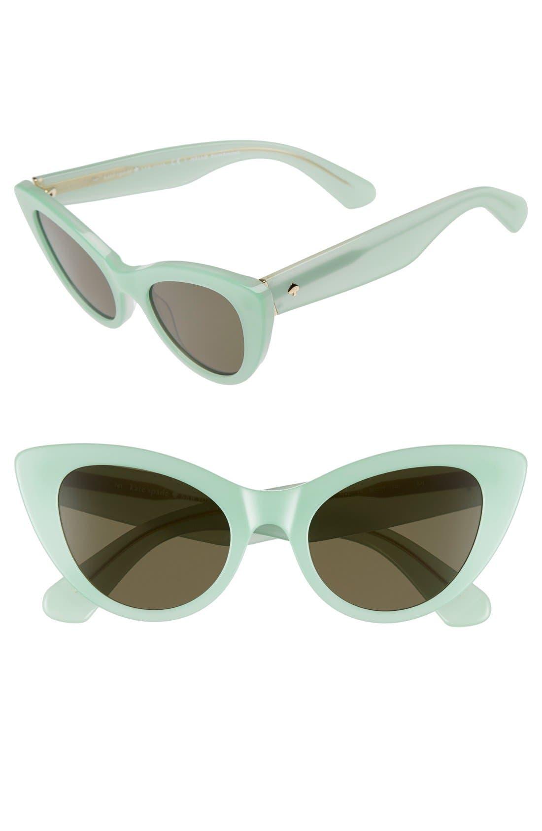 Main Image - kate spade new york 'deandra' 50mm cat eye sunglasses