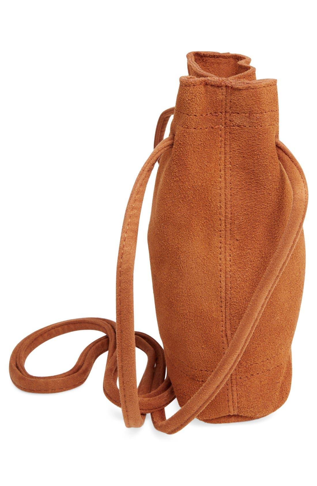 Alternate Image 5  - Street Level Suede Crossbody Bag
