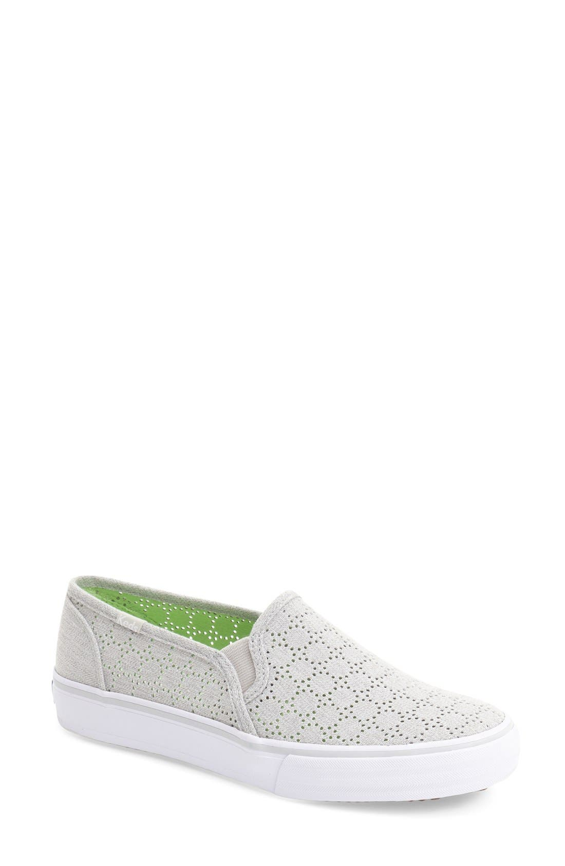 Alternate Image 1 Selected - Keds® 'Double Decker' Perforated Slip-On Sneaker (Women)