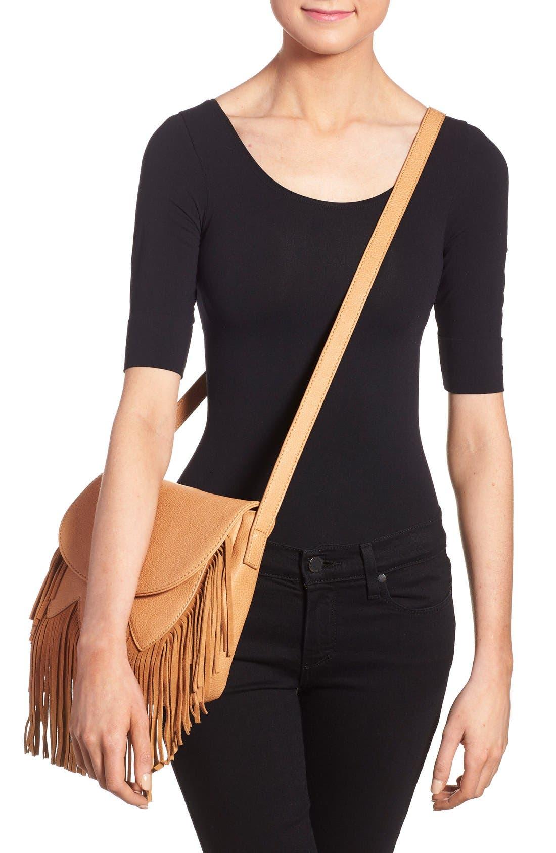 Alternate Image 2  - Sole Society 'Kerry' Fringe Faux Leather Crossbody Bag