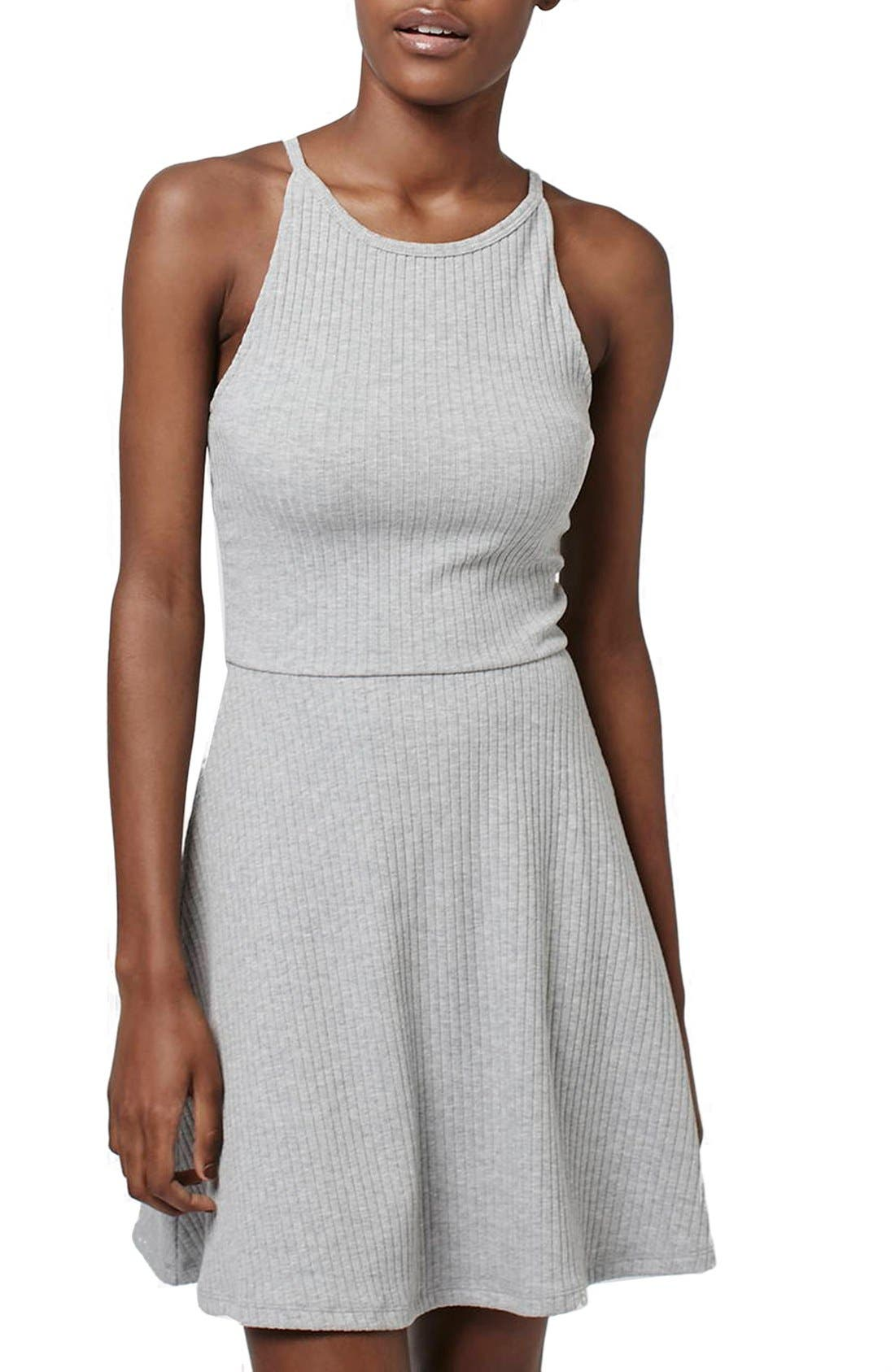 Alternate Image 1 Selected - Topshop Strappy Back Tunic Dress
