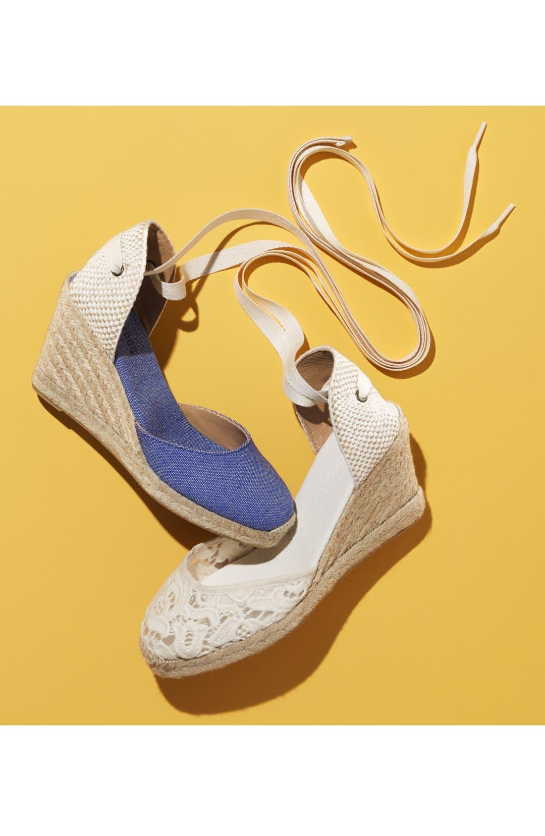Alternate Image 6  - Soludos Lace Wedge Espadrille Sandal (Women)