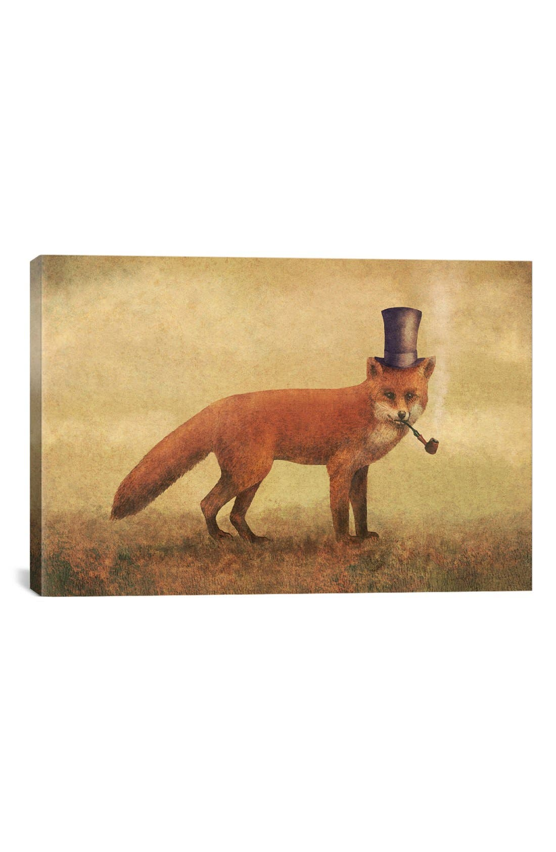 Alternate Image 1 Selected - iCanvas 'Crazy Like a Fox' Giclée Print Canvas Art