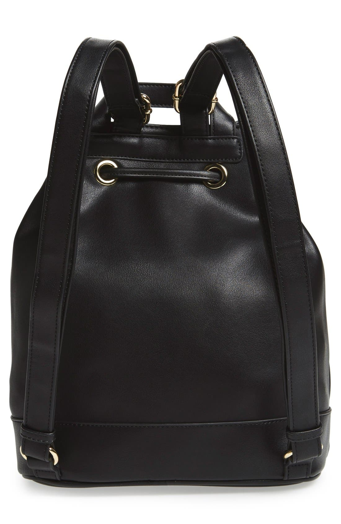 Alternate Image 4  - BP. Faux Leather Drawstring Backpack