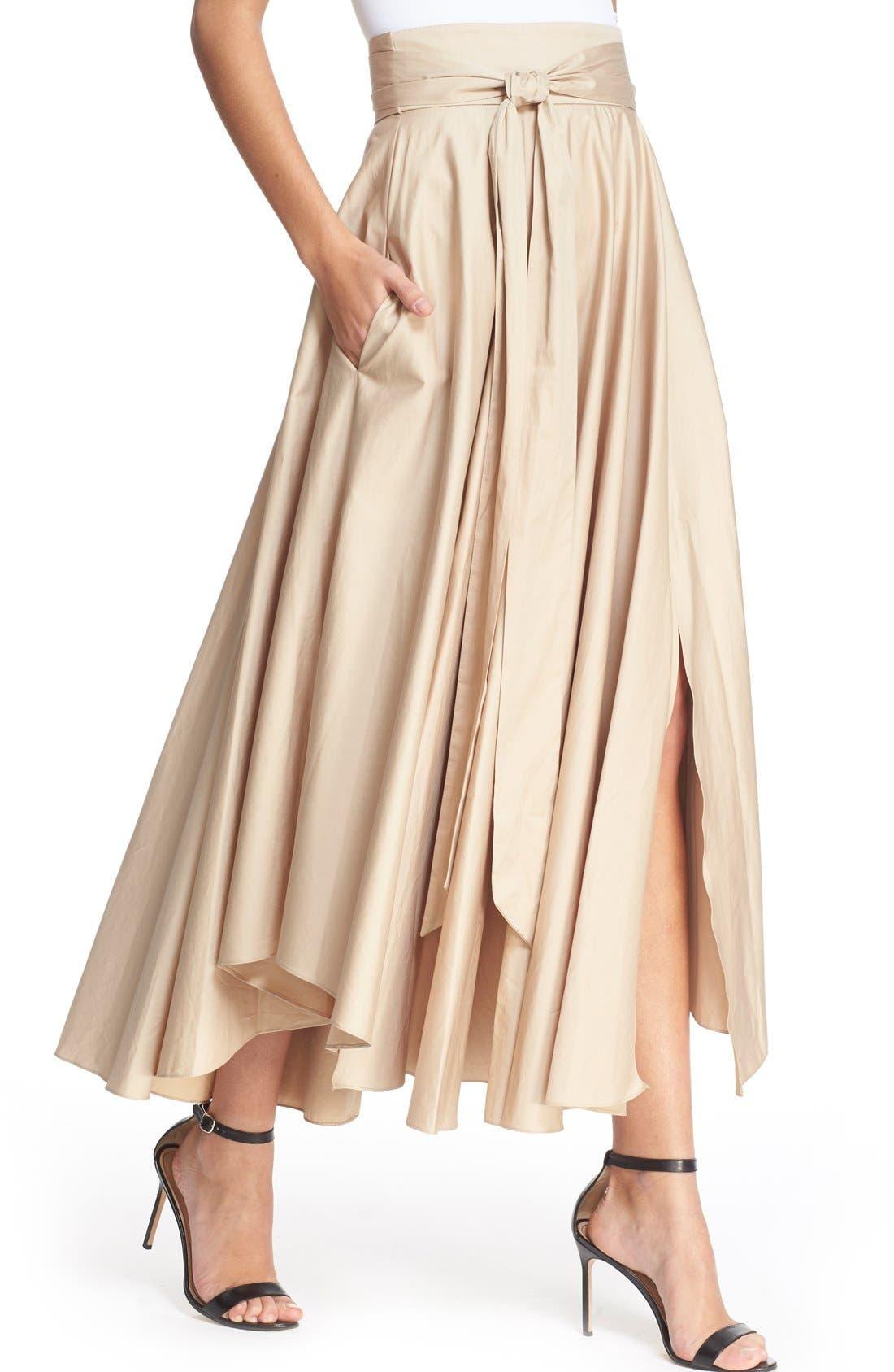 Alternate Image 4  - Tibi Belted Cotton Maxi Skirt