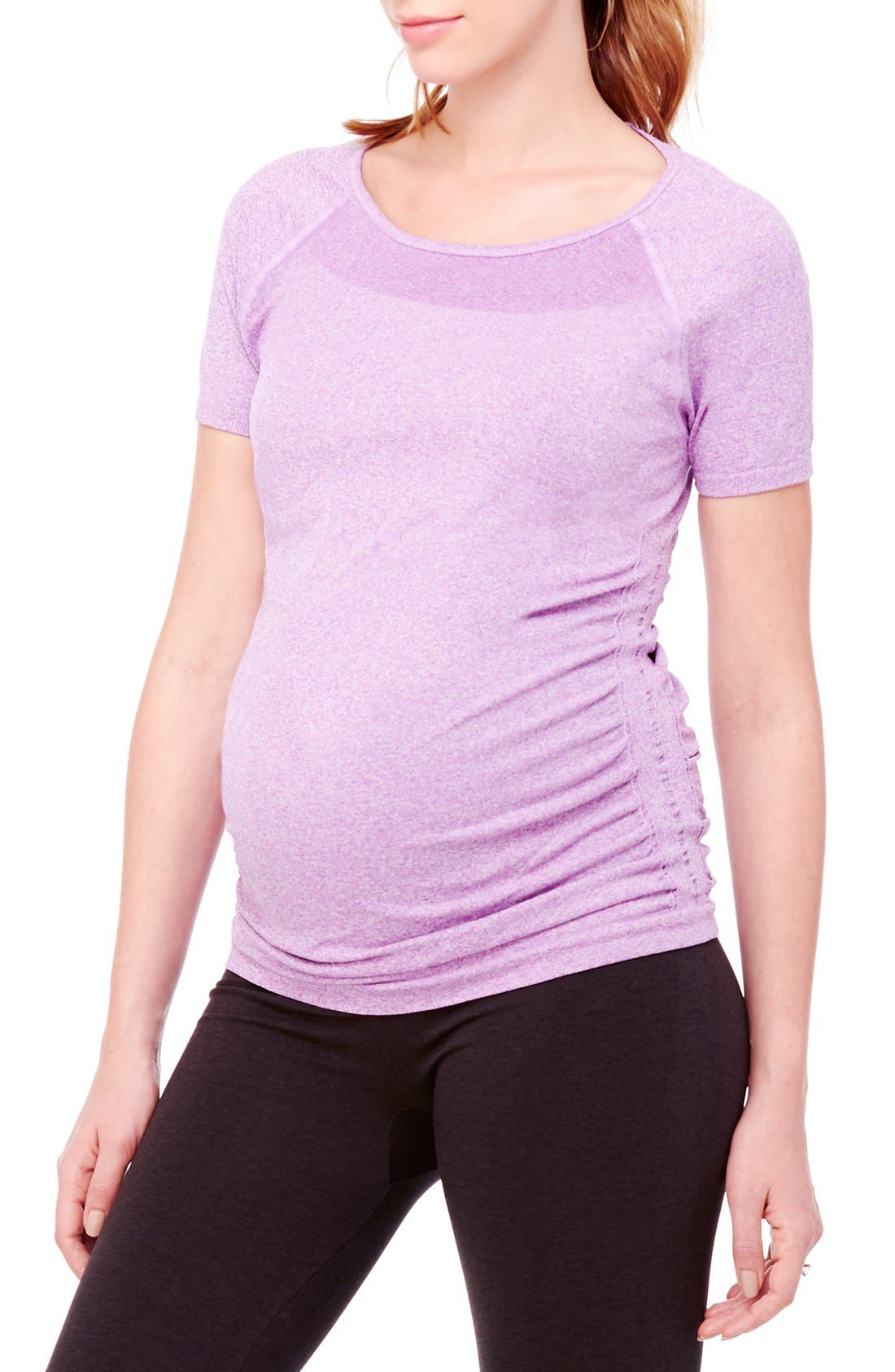 INGRID & ISABEL® Active Ruched Maternity Top