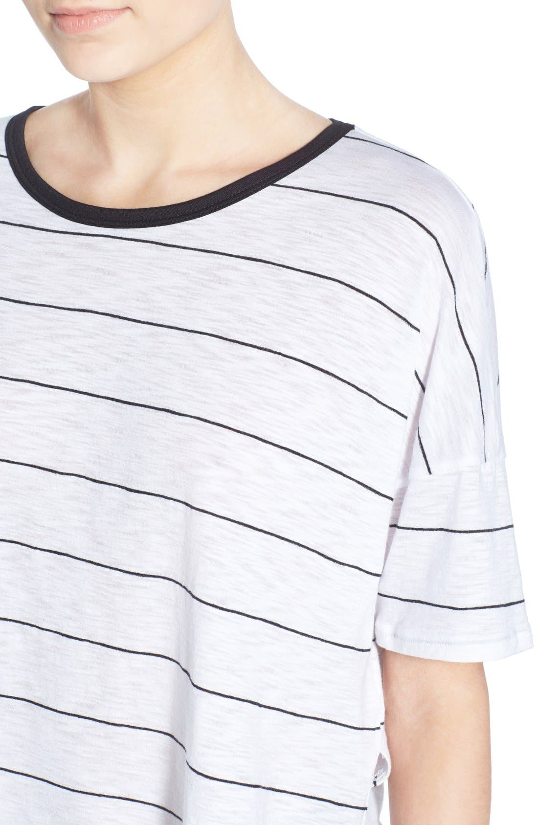Alternate Image 4  - Michelle by Comune Stripe Crop Tee