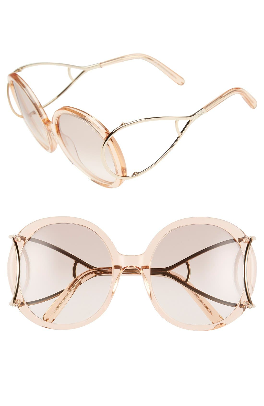 Chloé 'Jackson' 56mm Round Sunglasses