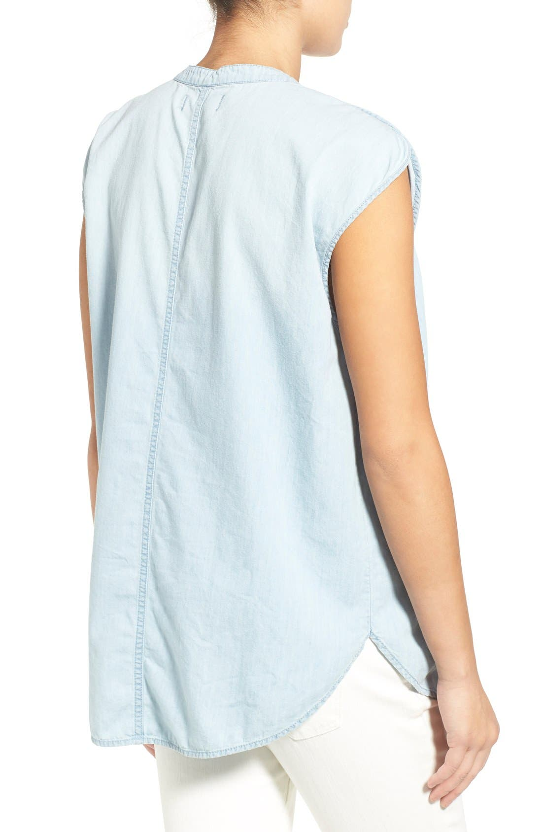 Alternate Image 2  - Madewell 'Summer' Chambray Popover Top