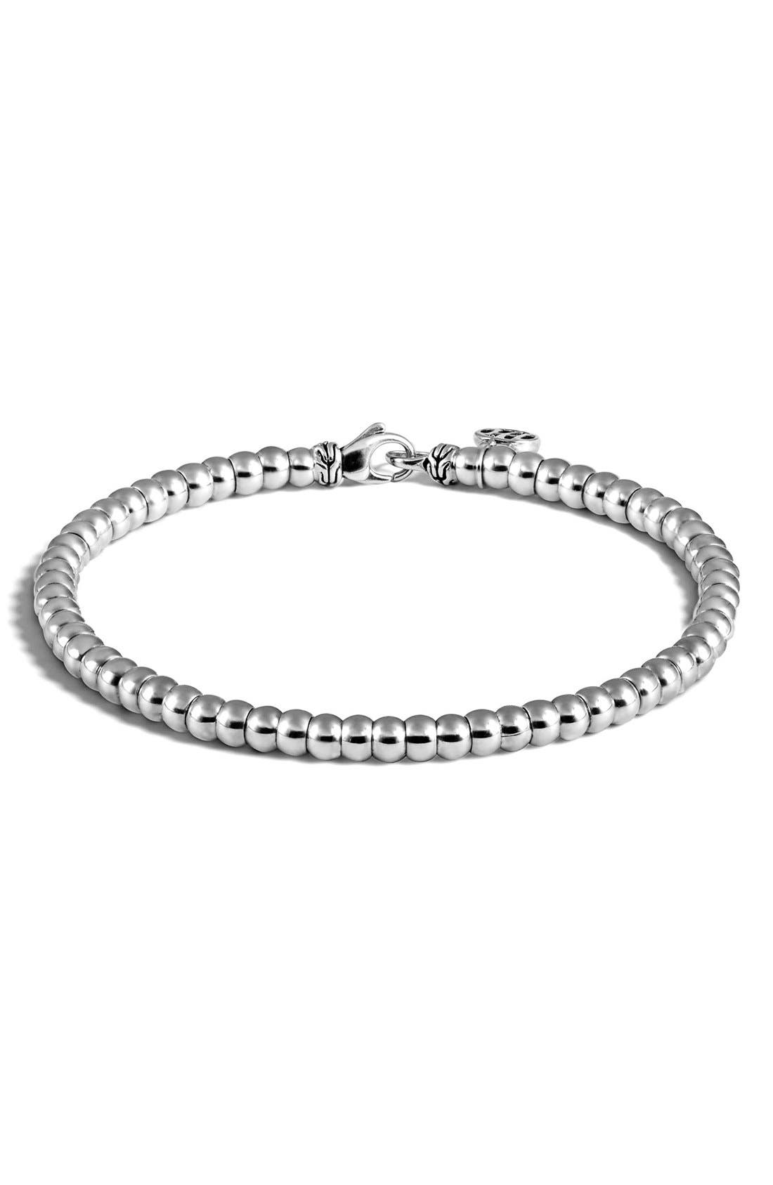 Alternate Image 1 Selected - John Hardy 'Classic Chain' Beaded Sterling Silver Bracelet