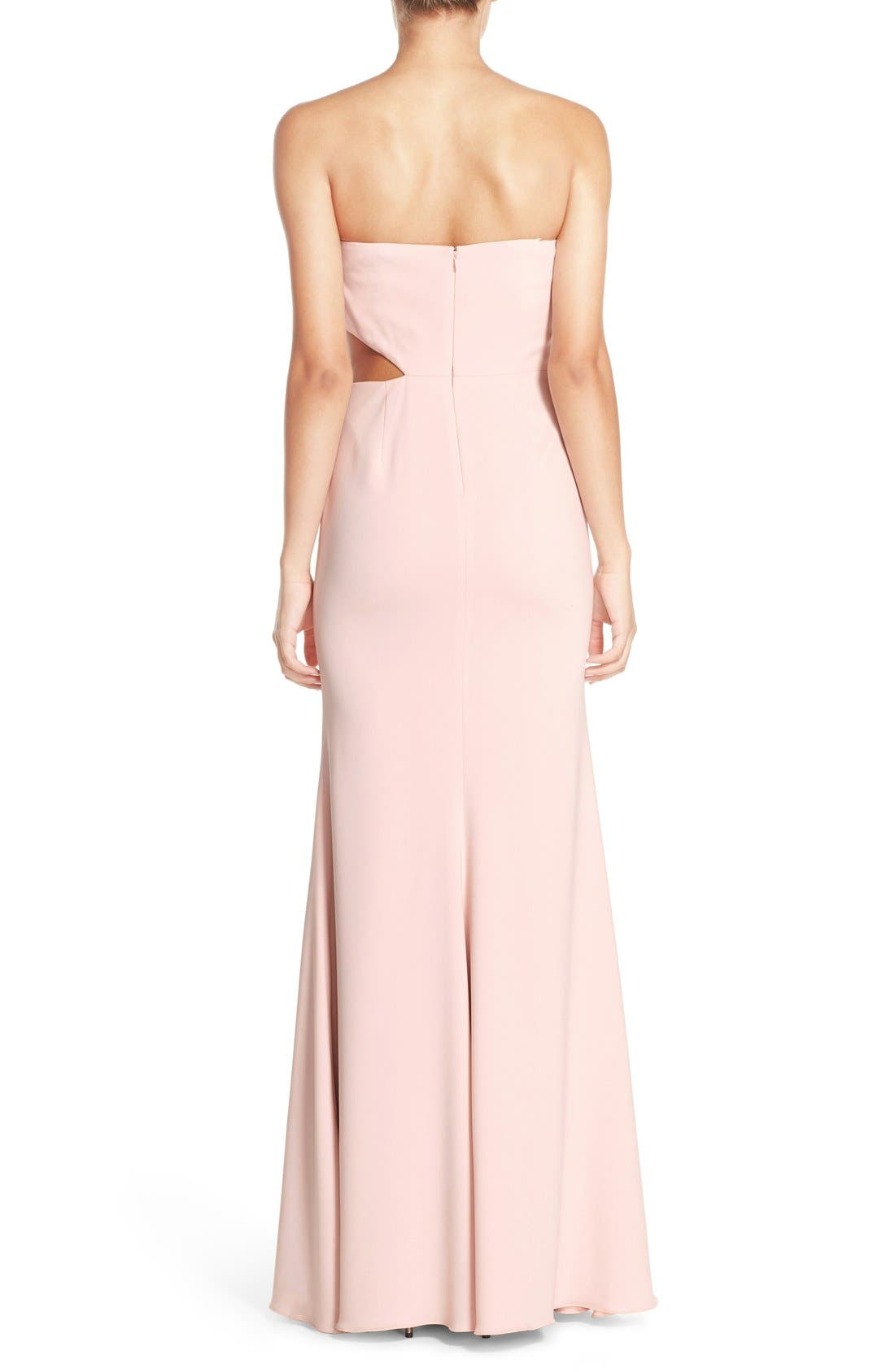 Alternate Image 2  - Jay Godfrey Strapless Cutout Gown