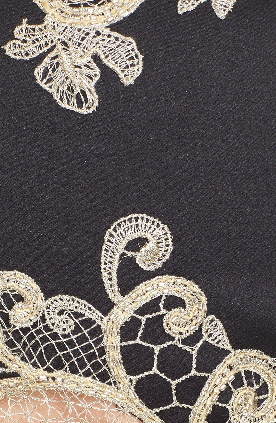 Alternate Image 3  - Marchesa Lace Appliqué Crepe Fit & Flare Dress