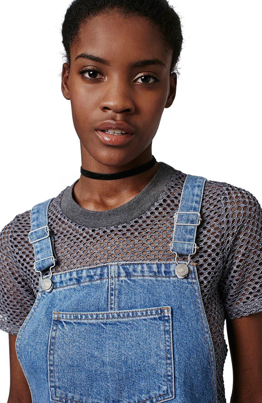 Alternate Image 5  - Topshop Denim Pinafore Dress (Petite)