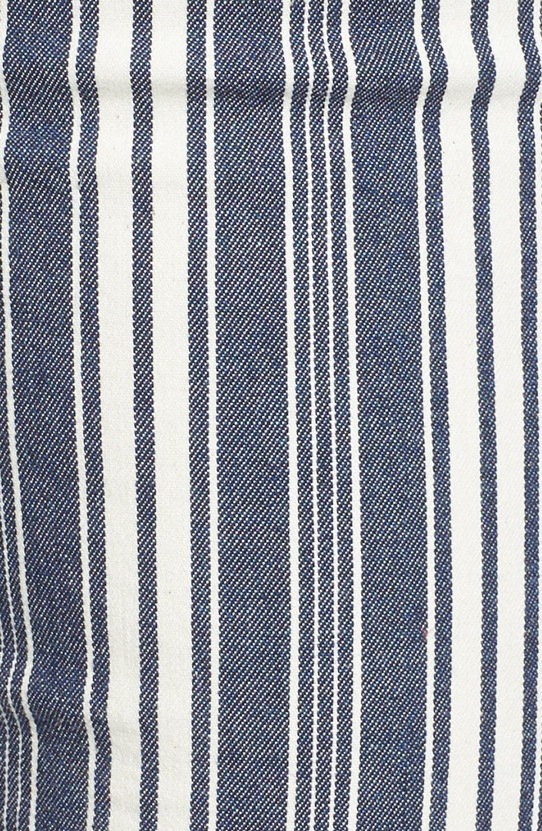 Alternate Image 5  - 7 For All Mankind® Ankle Straight Leg Jeans (Indigo Stripe)