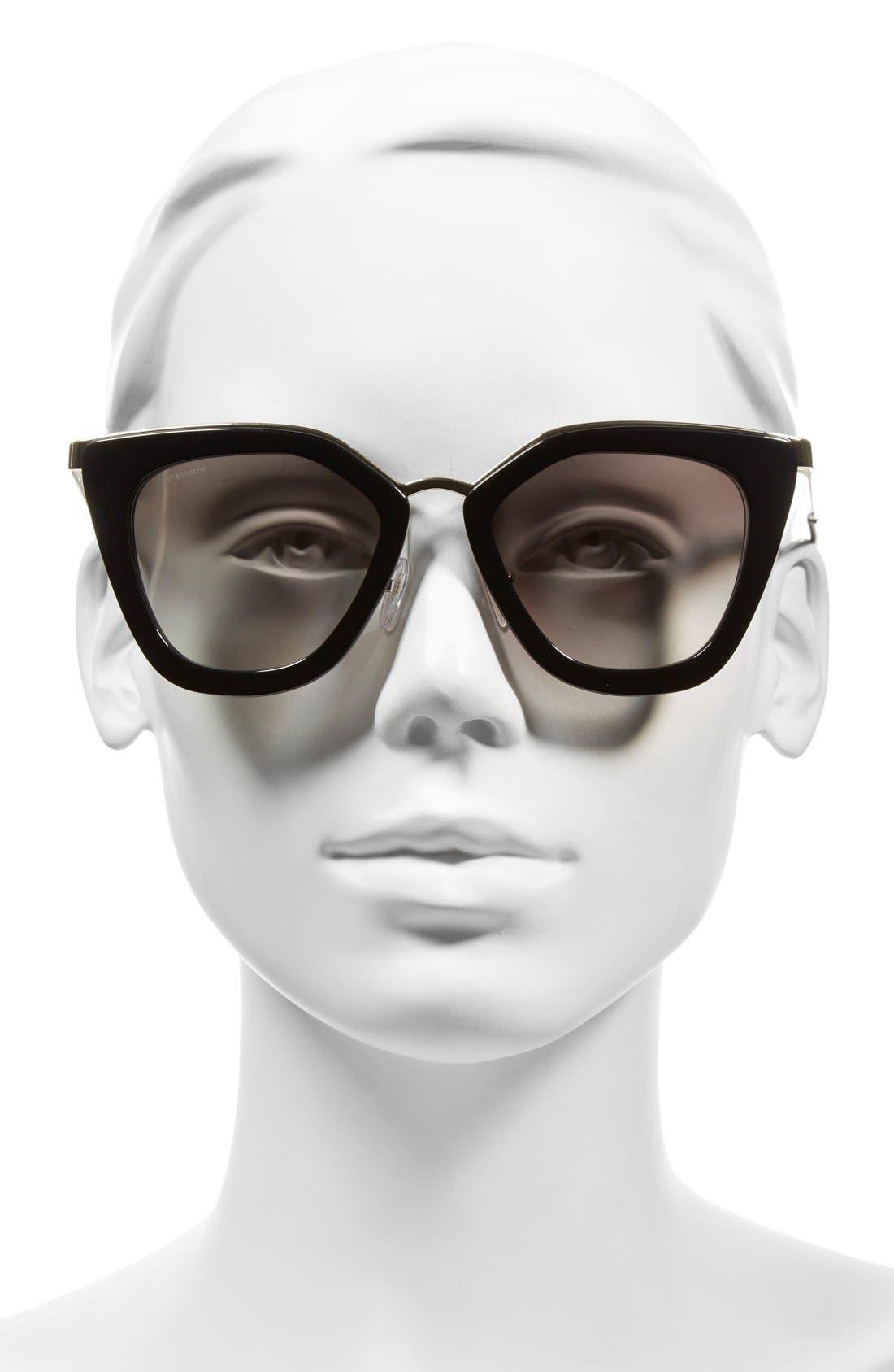 Alternate Image 2  - Prada 52mm Cat Eye Sunglasses
