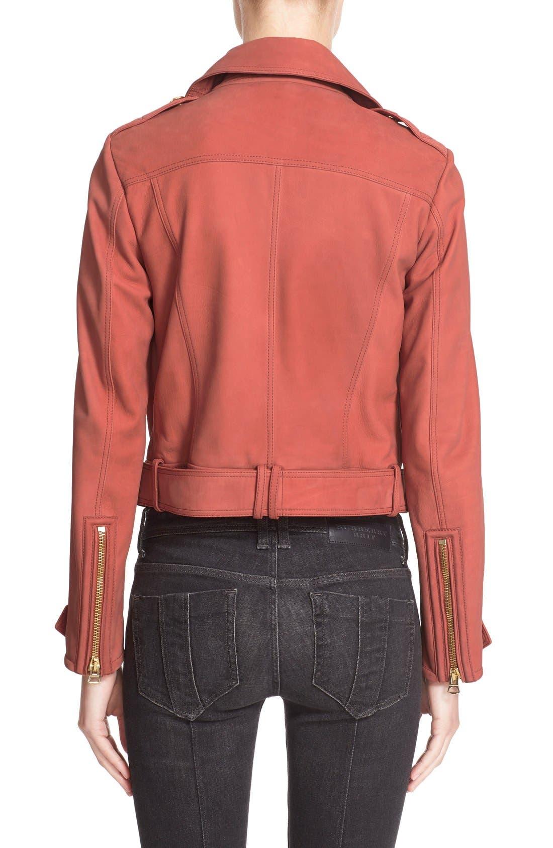 Alternate Image 2  - Burberry Brit 'Pattersby' Suede Moto Jacket