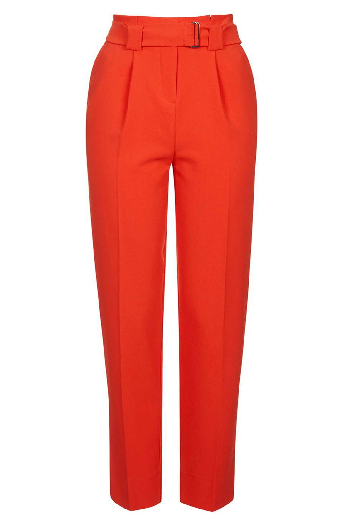Alternate Image 4  - Topshop Belted Peg Trousers