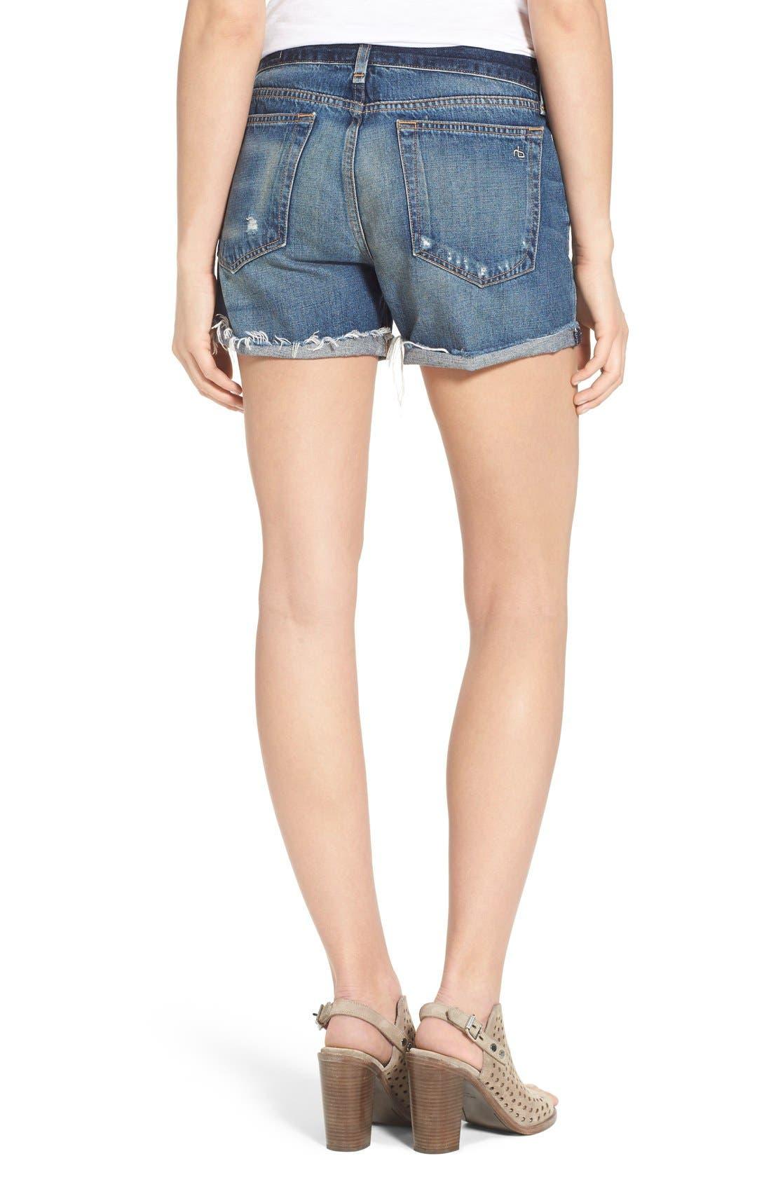 Alternate Image 2  - rag & bone 'Boyfriend' Cutoff Denim Shorts (Woodstock)