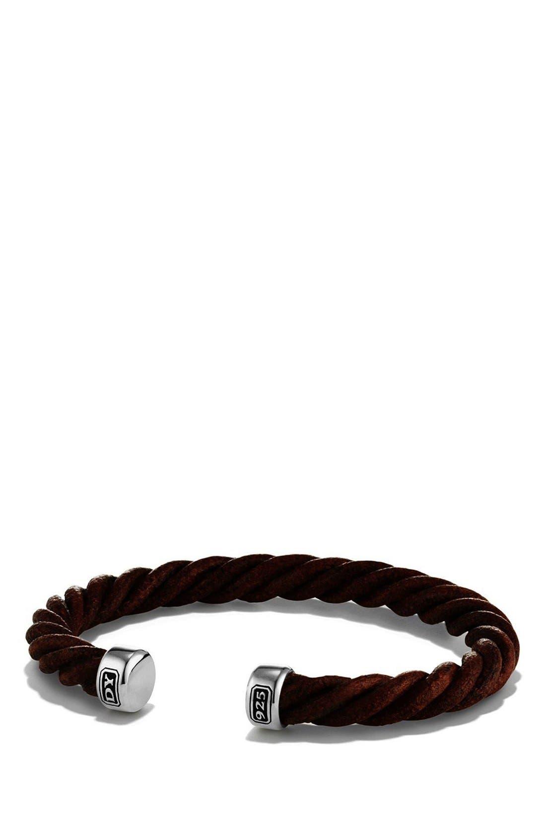 David Yurman Leather Cuff Bracelet