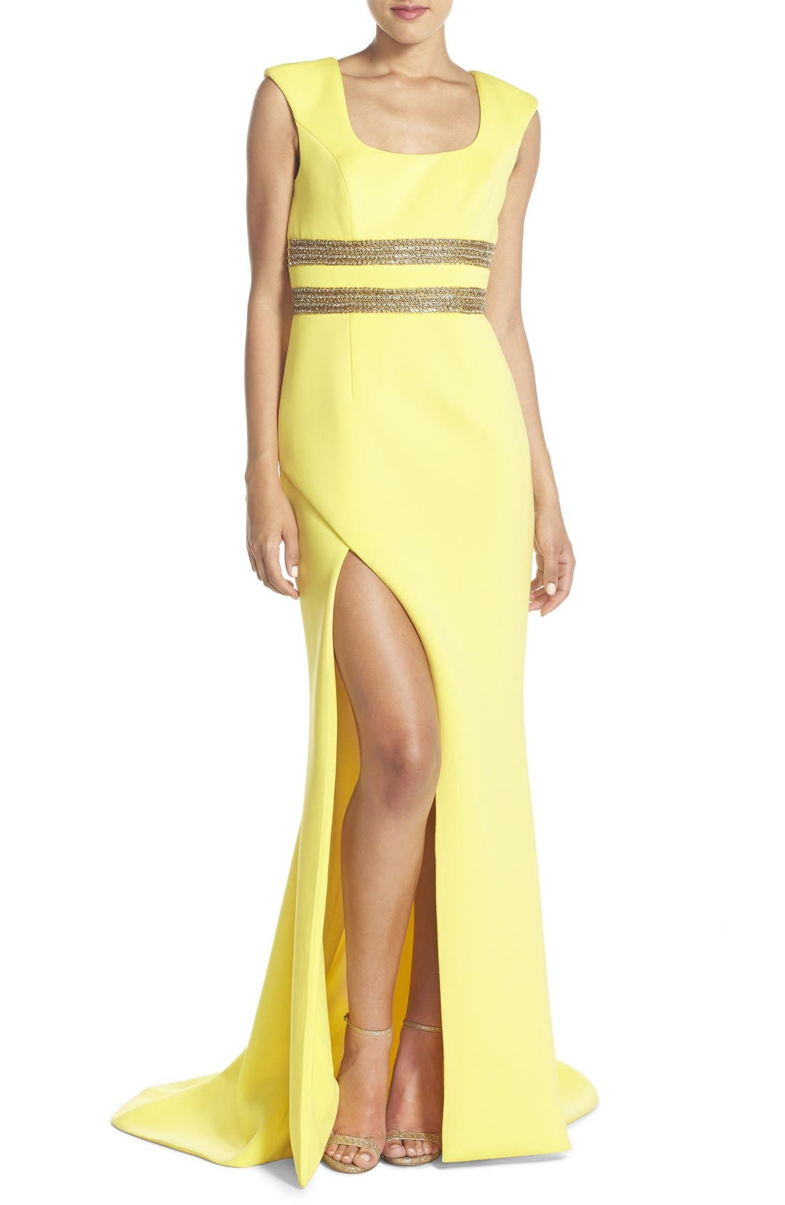 Alternate Image 1 Selected - Terani Couture Open Back Embellished Gown